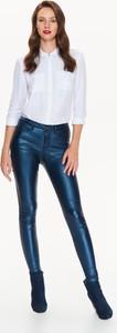Granatowe spodnie Top Secret w stylu casual