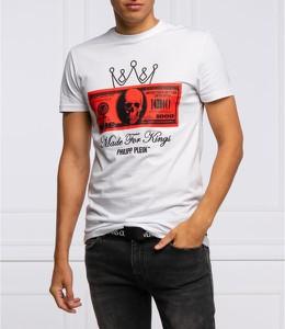T-shirt Philipp Plein z krótkim rękawem w młodzieżowym stylu z bawełny