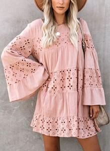 Sukienka Sandbella w stylu boho oversize mini