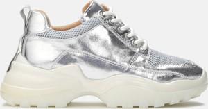 Buty sportowe Kazar sznurowane ze skóry w sportowym stylu