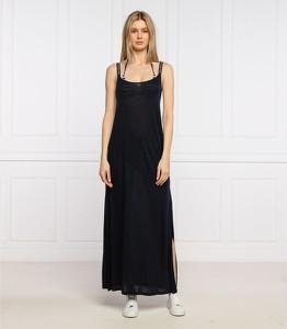 Sukienka Tommy Hilfiger maxi z dekoltem w kształcie litery v na ramiączkach