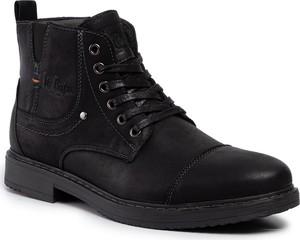 Czarne buty zimowe Lee Cooper sznurowane
