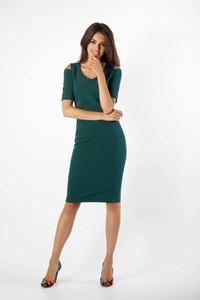 Sukienka Nommo z krótkim rękawem midi ołówkowa