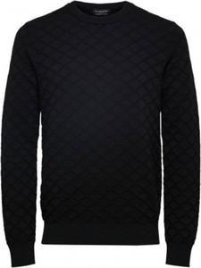 Czarny sweter Selected Homme z dżerseju w stylu casual