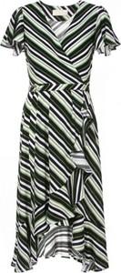 Sukienka AGGI z krótkim rękawem z dekoltem w kształcie litery v