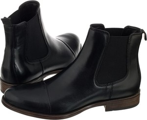 Czarne botki Venezia na obcasie w stylu casual