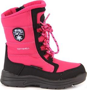 Różowe buty dziecięce zimowe American Club sznurowane