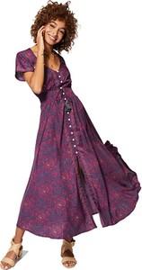 Sukienka Aller Simplement z szyfonu z długim rękawem
