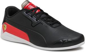 Czarne buty sportowe Puma ze skóry