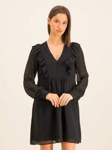 Czarna sukienka Guess w stylu casual z długim rękawem mini