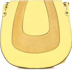 Żółta torebka VITTORIA GOTTI ze skóry na ramię matowa