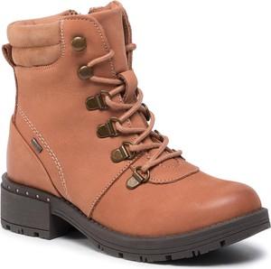 Brązowe buty dziecięce zimowe Lasocki Young