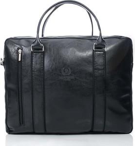 Czarna torba Paolo Peruzzi ze skóry ekologicznej