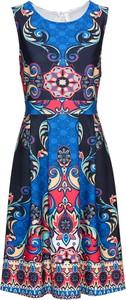Sukienka bonprix BODYFLIRT boutique midi z okrągłym dekoltem