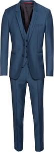 Granatowy garnitur Hugo Boss