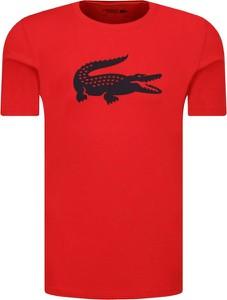 Czerwony t-shirt Lacoste