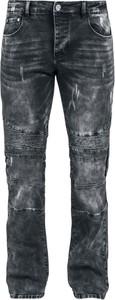 Granatowe jeansy Black Premium By Emp w street stylu