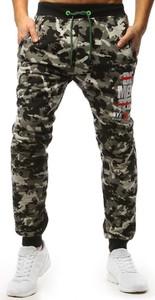 Spodnie sportowe Dstreet w militarnym stylu z dresówki