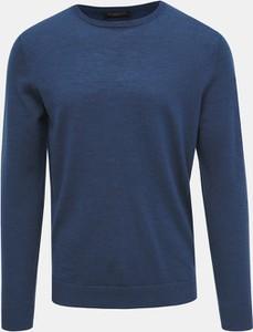 Niebieski sweter Selected Homme z wełny w stylu casual