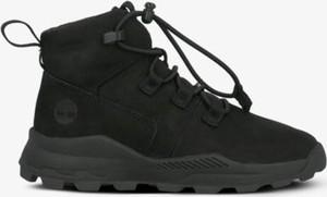Czarne buty sportowe dziecięce Timberland sznurowane