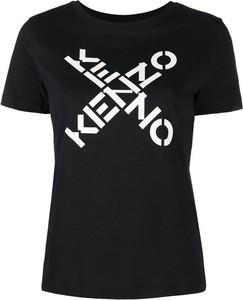 T-shirt Kenzo z okrągłym dekoltem z bawełny z krótkim rękawem