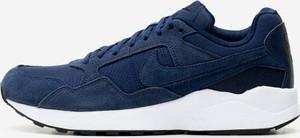 Niebieskie buty sportowe Nike ze skóry sznurowane