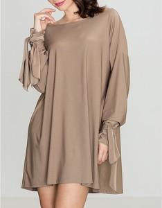 Brązowa sukienka LENITIF mini