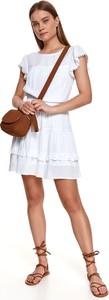 Sukienka Top Secret z krótkim rękawem z okrągłym dekoltem mini