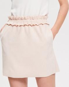 Różowa spódnica Reserved mini w stylu casual