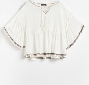 Bluzka Reserved w stylu boho z krótkim rękawem