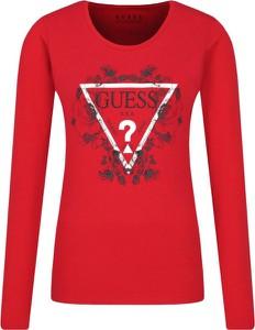 Czerwona bluzka Guess Jeans w stylu casual