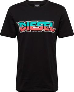 Czarny t-shirt Diesel z krótkim rękawem