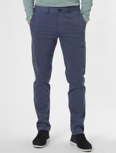 Niebieskie chinosy Tommy Hilfiger z satyny w stylu casual