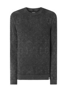 Sweter McNeal w stylu casual z bawełny z okrągłym dekoltem