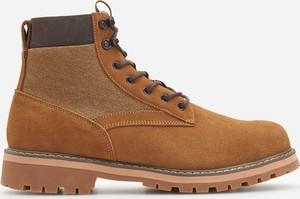 Brązowe buty zimowe Reserved sznurowane