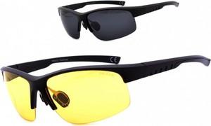 Stylion Okulary z dwoma soczewkami polaryzacyjnymi czarna i żółta - drs-55c2
