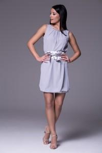 Niebieska sukienka Wox z tkaniny