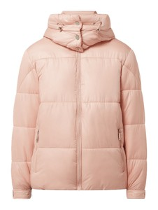 Różowa kurtka Guess krótka z kapturem
