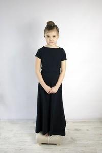 Czarna sukienka dziewczęca Meleksima
