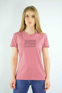 T-shirt Napapijri z krótkim rękawem z bawełny z okrągłym dekoltem