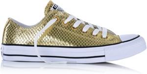 Złote trampki i tenisówki w zwierzęce wzory Converse