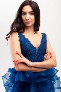 Niebieska sukienka Butik Ecru mini