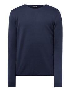 Granatowy sweter Only & Sons w stylu casual z okrągłym dekoltem z bawełny