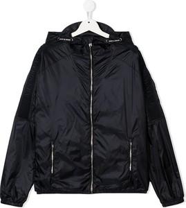 Czarna kurtka Armani Jeans krótka w stylu casual