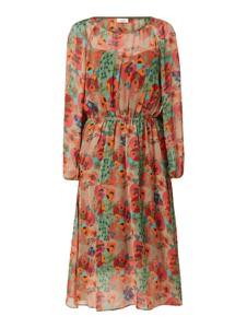 Sukienka Marc O'Polo DENIM z okrągłym dekoltem w stylu boho z szyfonu