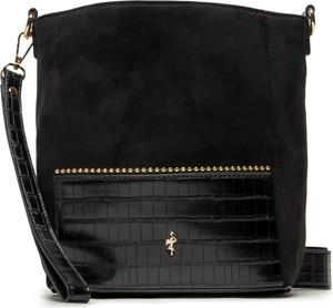 Czarna torebka Menbur średnia w młodzieżowym stylu