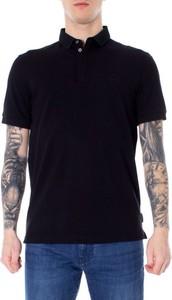 Czarna koszulka polo Armani Exchange z bawełny w stylu casual z krótkim rękawem
