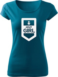 Niebieski t-shirt Waragod z krótkim rękawem w młodzieżowym stylu