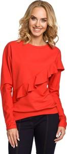Bluzka MOE z okrągłym dekoltem w sportowym stylu z bawełny