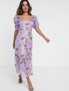 Fioletowa sukienka Asos